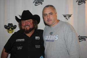Colt Ford and author John Lindsay.