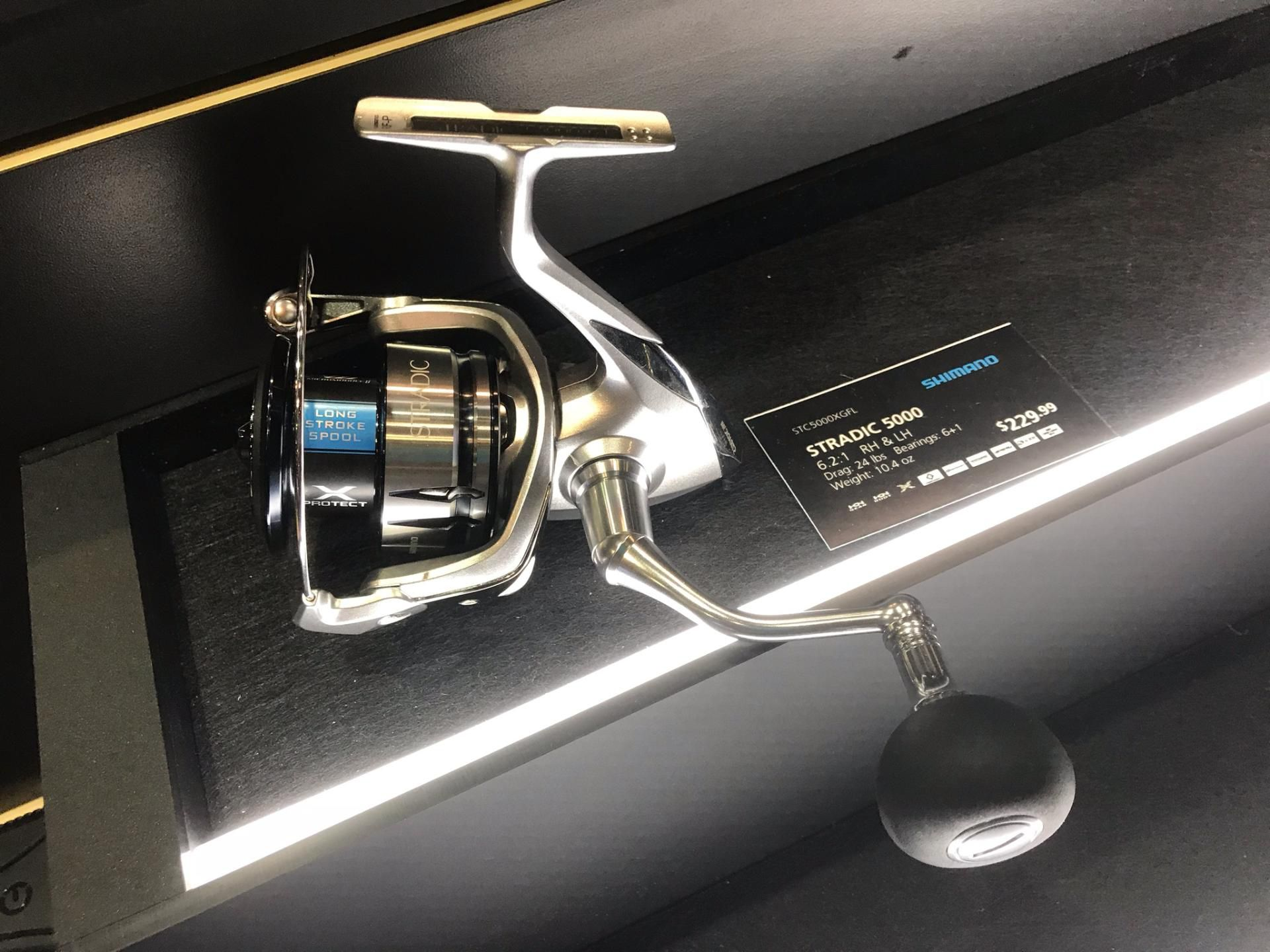 The latest version of Shimano's Stradic spinning reel incorporates many of the features included in the top of the line Stella reels, at a considerably more affordable price. Available in 5 sizes from 1000 thru 5000.