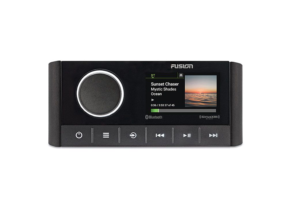 "The Apollo RA670 from Fusion delivers powerful audio in a compact head with a color display. It features Fusion digital signal processing (DSP), Fusion-Link control for up to three zones, and PartyBus via Wi-Fi or the Apollo network. Setting up DSP profiles is simple with the free Fusion-Link app. The RA670 connects via Bluetooth, Optical Audio (TV), SiriusXM, AM/FM radio, aux, USB, and Universal Plug and Play. $449; <a href=""http://www.fusionentertainment.com"" rel=""nofollow"" title=""fusionentertainment.com"">fusionentertainment.com</a>"