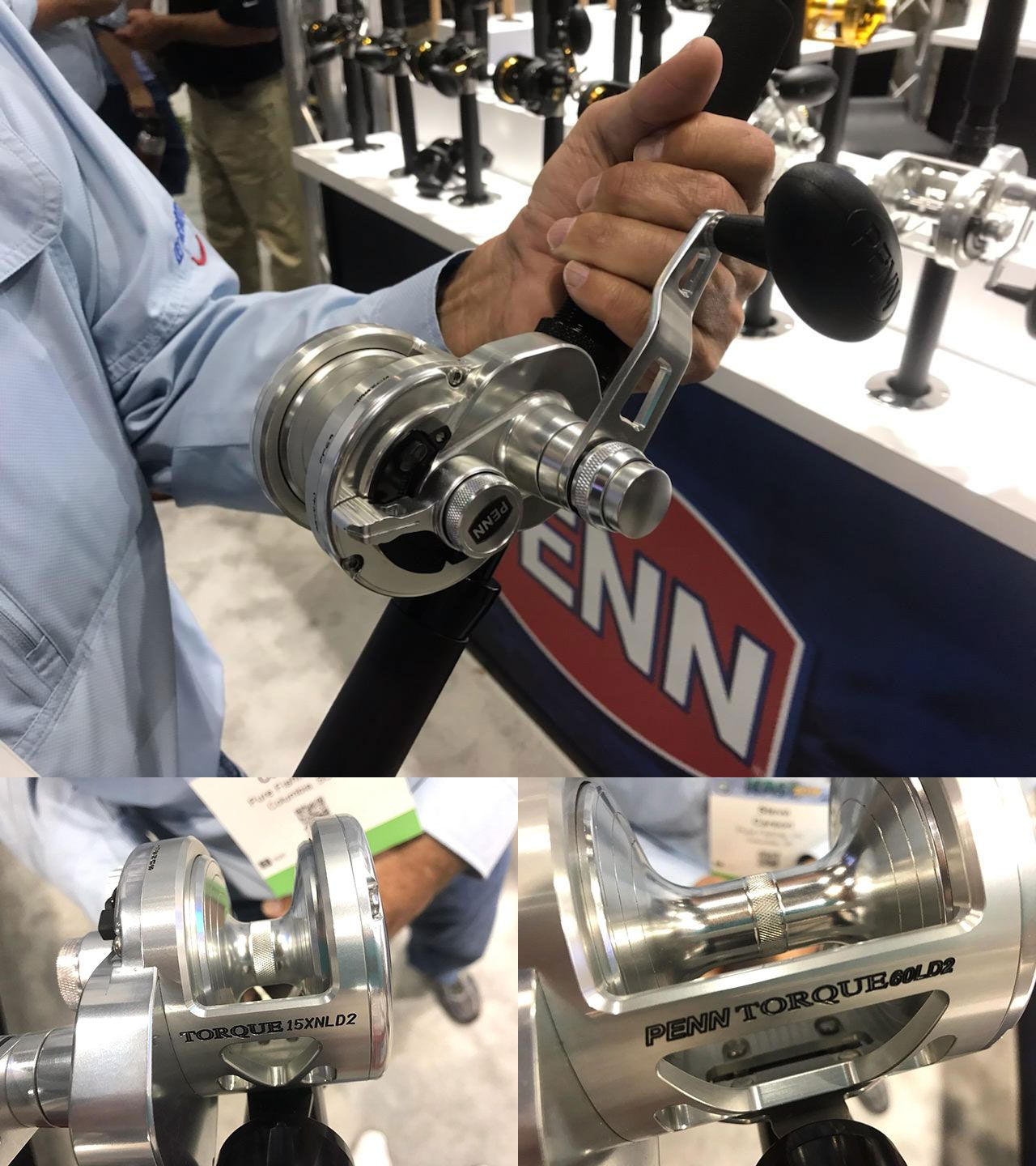 Penn introduced a silver version of its popular Torque LD2 reel series, along with 2 new sizes, all featuring lever drag and 2-speed retrieve to handle everything from big bottom dwellers to tuna, wahoo and billfish.