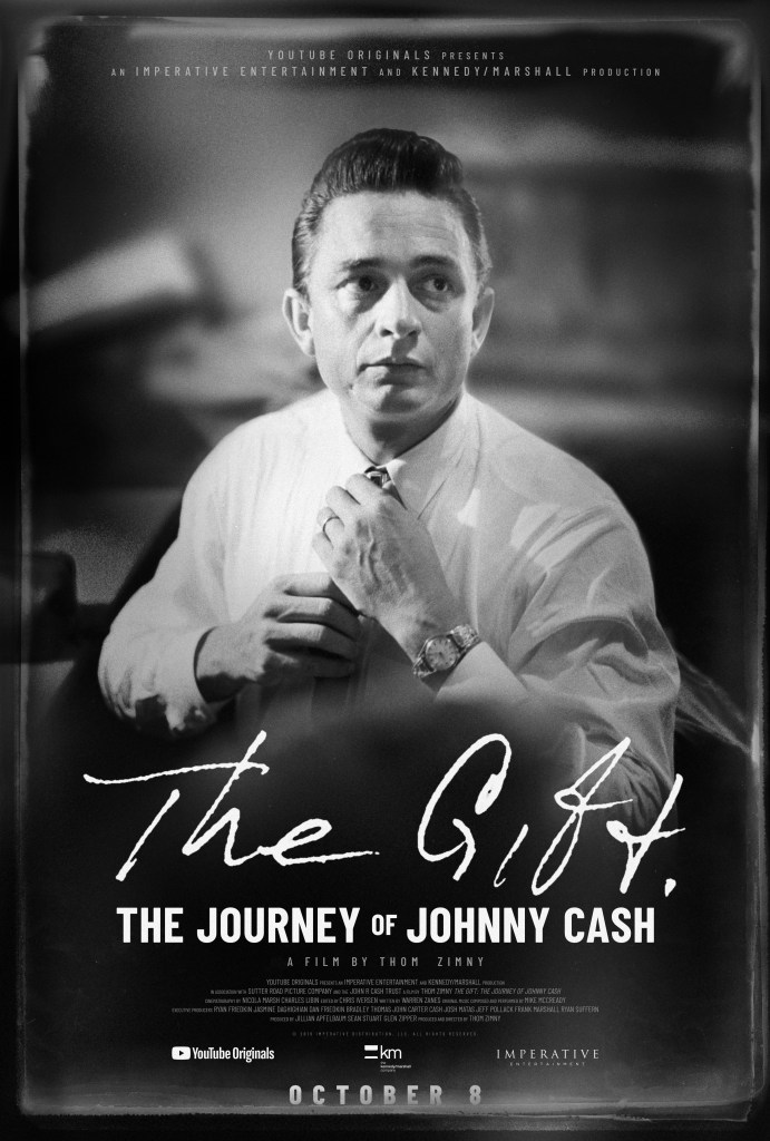 "YouTube Originals Premiering ""The Gift: The Journey of Johnny Cash"" Documentary For Free Monday, November 11th at 11am Central"