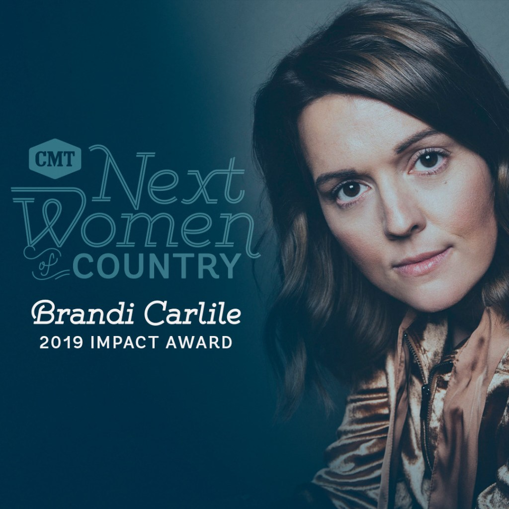 """CMT To Honor Brandi Carlile With """"Impact Award"""" At The 2019 Next Women Of Country Celebration"""