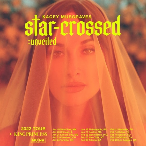 """Kacey Musgraves """"star-crossed"""" Album and Film Out Today - Tour Dates Announced"""