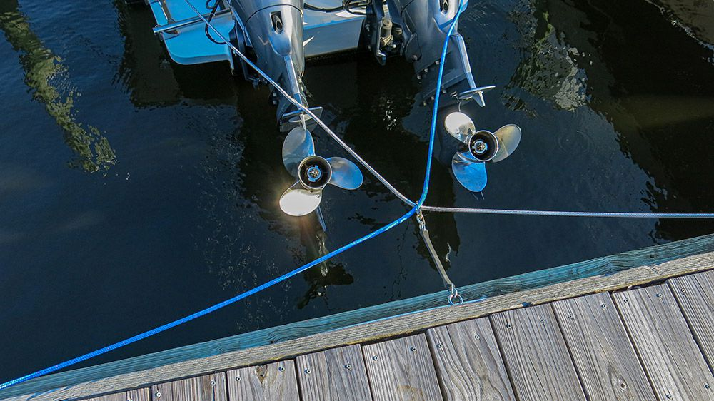 Simple solution keeps dock lines clear.