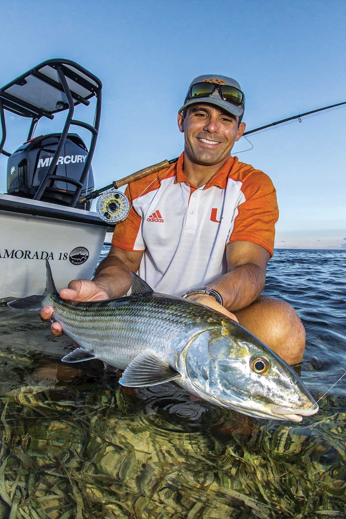 Some say bay bonefish are more skittish than those in the Bahamas.